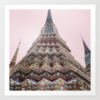 thailand Art Prints featuring Thailand by Maria