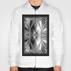Abstract Peacock. Black+White. Hoody
