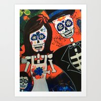 Sugar Skull Family Portraits Art Print