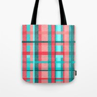 plaid Tote Bags featuring Plaid by Nichole B.