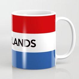 netherlands country flag name text Coffee Mug