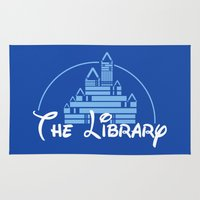 library Area & Throw Rugs featuring The Library  by bookwormboutique