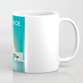 Nice, France - Skyline Illustration by Loose Petal Coffee Mug