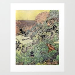 Mu Guai and the Tiger's Eye, Panel 4 Art Print