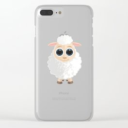 White Sheep Clear iPhone Case