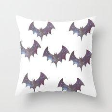 Space bats Throw Pillow
