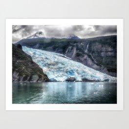 Portage Glacier - Alaska Art Print