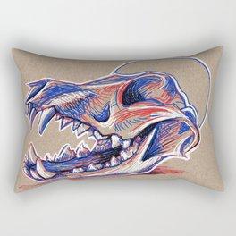 Popart Skull Rectangular Pillow