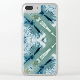 Into the Forest (Green) Clear iPhone Case