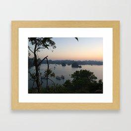 view of halong bay Framed Art Print