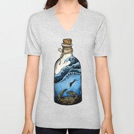 Deep blue bottle Unisex V-Neck