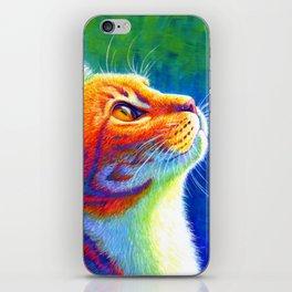 Rainbow Cat Portrait iPhone Skin