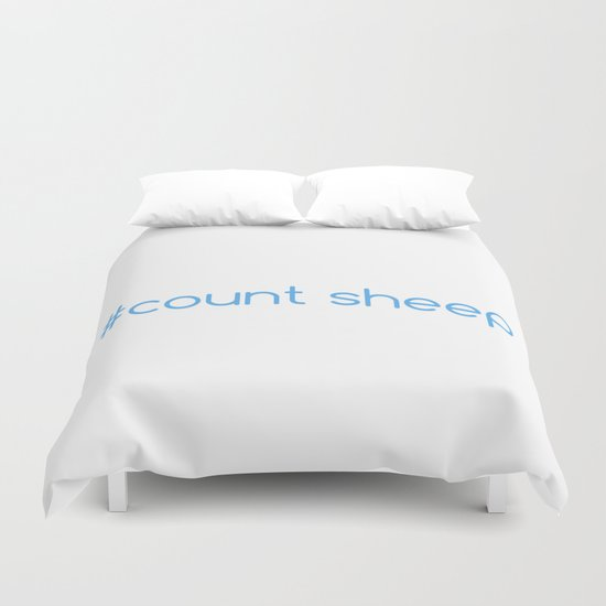 #Count Sheep Duvet Cover