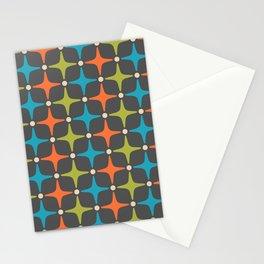 Mid Century Modern Star Pattern 935 Stationery Cards