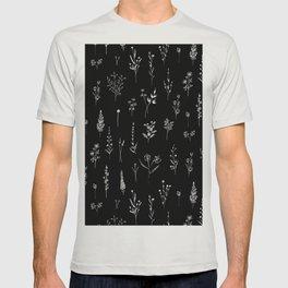 Black wildflowers T-shirt