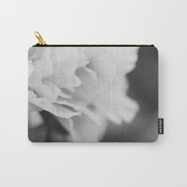 Peony in Black and White Carry-All Pouch