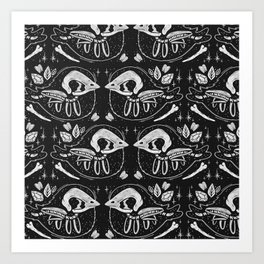 SPOOKY BIRBS Art Print