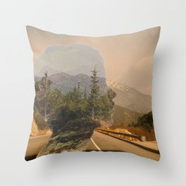 Scenic Mountainside Drive 1 Throw Pillow