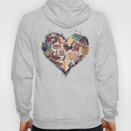 Dream with Books - Love of Reading Bookshelf Collage Hoody