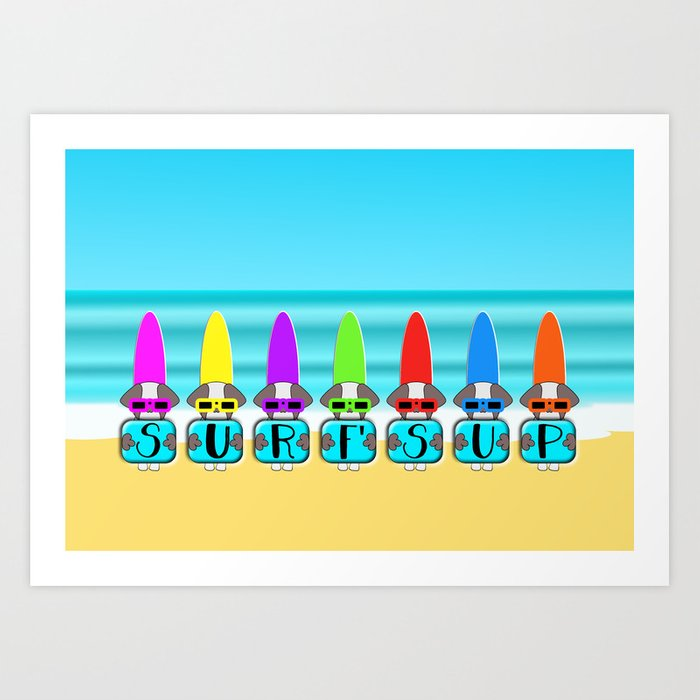 Shih Tzu Surf's Up Art Print