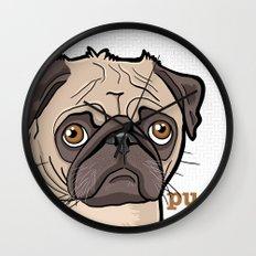 Lilly (pug) Wall Clock