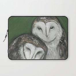 Soul Mates // Barn Owls Owl Bird Feather Wing Nature Love Animal Wild Nest Couple Marriage Family Laptop Sleeve