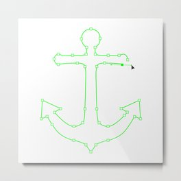 Anchor Points Metal Print