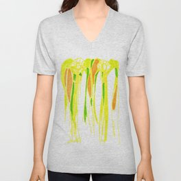 Angels-abstracted Unisex V-Neck