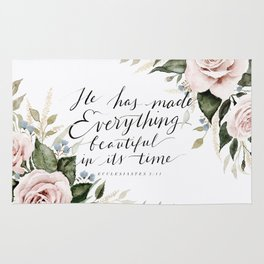 """He has made Everything beautiful in its time"" Rug"