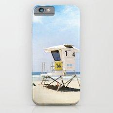 California Beach Photography, Lifeguard Stack Shack San Diego, Coastal Photograph Slim Case iPhone 6s