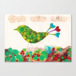 Lovebird Canvas Print