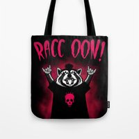 raccoon Tote Bags featuring Raccoon! by pigboom el crapo