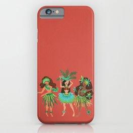 Luau Girls on Coral iPhone Case