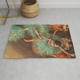 The Green Dancer 1879 By Edgar Degas | Reproduction | Famous French Painter Rug