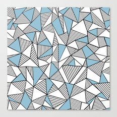 Abstraction Lines Sky Blue Canvas Print