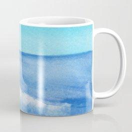 Diagonal Blue Wave Coffee Mug