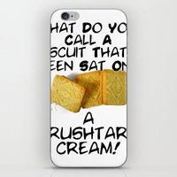 pun iPhone & iPod Skins featuring Crushtard Cream Pun by georgestow