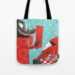 Big eyed wolf Tote Bag