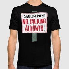 No Talking Mens Fitted Tee MEDIUM Black