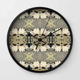 Coneflower Ivory Yellow Graphic Design Wall Clock