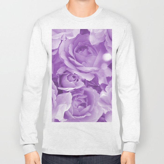Violet Rose Bouquet For You - Valentine's Day #decor #society6 #homedecor Long Sleeve T-shirt
