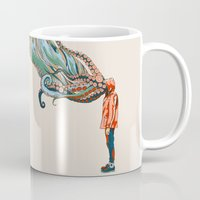 octopus Mugs featuring Octopus in me by Huebucket