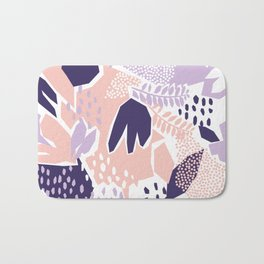 Pastel Cut-Out Abstract Collage Bath Mat