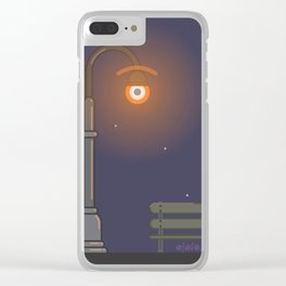 street l.eye.ght Clear iPhone Case