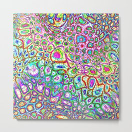 Colorful Synaptic Channels Metal Print