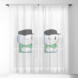 The Odd1sout  Sheer Curtain
