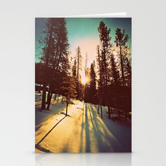 Winter Sun Stationery Cards
