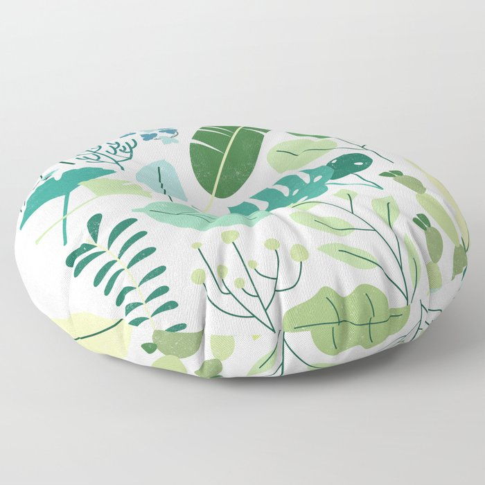 Botanical Chart Floor Pillow