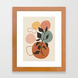 Abstract Minimal Shapes 23 Framed Art Print