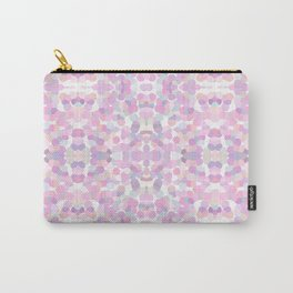 Pink lavender geometric pattern Carry-All Pouch